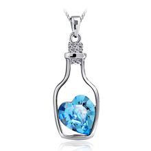 Lindo Collar de Cristal Swarovski en Forma de Botella