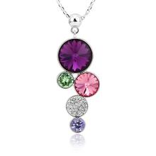 Collar Amatista de Círculos con Cristales Swarovski