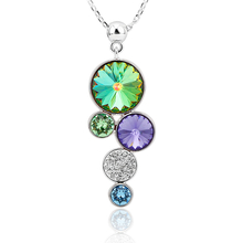 Collar de Círculos con Cristales Swarovski