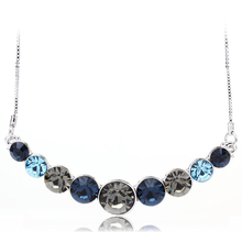 Collar de Cristal Swarovski Color Azul