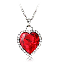 Hermoso Collar de Corazón con Cristal Swarovski