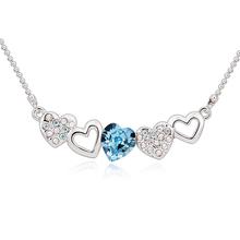 Collar de Swarovski con Corazón Azul