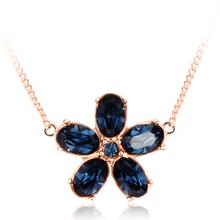 Collar Swarovski de Flor Azul
