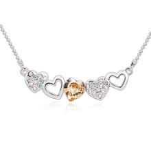 Collar de Swarovski con Corazón Champagne