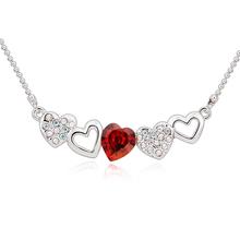 Lindo Collar de Swarovski con Corazón Rojo