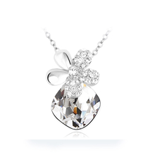Elegante Collar de Cristal Swarovski Blanco