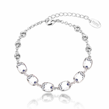 Beautiful White Transparent Swarovski Crystal Bracelet