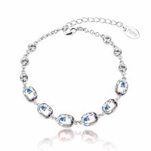 Beautiful White Mixed Color Mirror Swarovski Crystal Bracelet