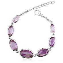 Amazing Tanzanite Color Swarovski Crystal Bracelet