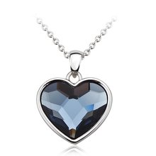 Gorgeous Blue Heart Swarovski Necklace