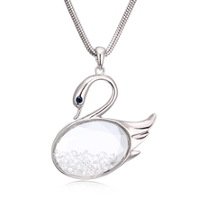 Beautiful Swan Swarovski Crystal Necklace