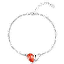 Cute Swarovski Fire Red Heart Bracelet