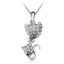 Cute Golden Cat Shaped Necklace