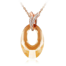 Beautiful 18K Gold Plated Swarovski Crystal Necklace