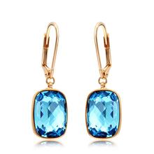 Blue Swarovski Dangling Earrings
