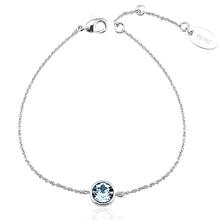 Cute Swarovski  Bracelet with Aquamarine Crystal