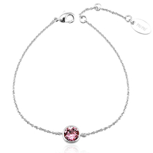 Swarovski Bracelet with Pink Crystal