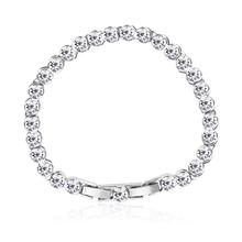 White Color Swarovski Crystals Bracelet
