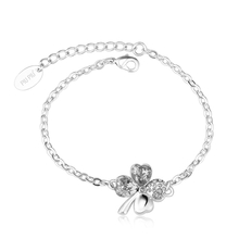 Swarovski Bracelet with White Clover