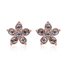 Rose Gold Plated Swarovski Star Earrings