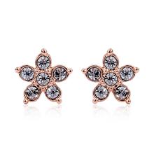 Rose Gold Plated Swarovski Star Earrings