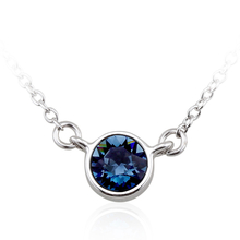 Collar Swarovski con Cristal Azul Metalico