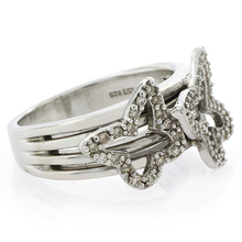 Butterfly Genuine Diamond .925 Silver Ring