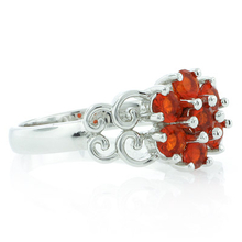Genuine Mexican Fire Opal .925 Silver Ring