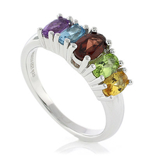 Sterling Silver Genuine Multi Gems Ring