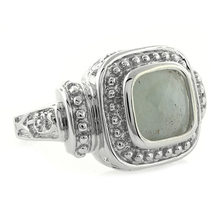 Aquamarine .925 Vintage Silver Ring