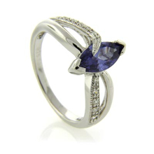 Marquise Cut Tanzanite .925 Silver Ring