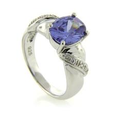 Fashion Tanzanite .925 Silver Ring
