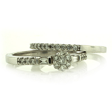 14K WHITE GOLD DIAMOND RING 0.50 CARAT GENUINE DIAMONDS
