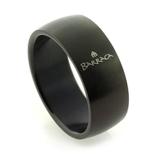 Anillo Negro de Acero Inoxidable Barraca