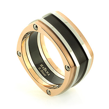 Stainless Steel Havana Square Ring