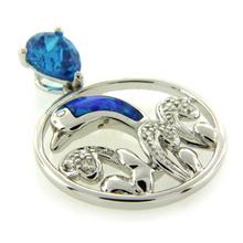 Opalo Australiano con Topacio Azul Forma de Delfin
