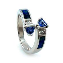 2 Stone Tanzanite and Australian Opal Ring