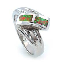 Australian Pink Opal Sterling Silver Ring