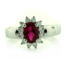 .925 Sterling Silver Ruby Ring