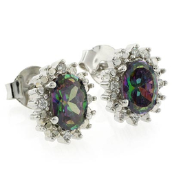 Caribbean Mystic Topaz Elegant Silver Earrings