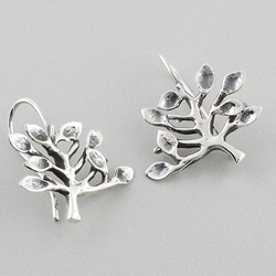 Sterling Silver .925 Tree Earrings