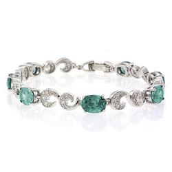 Oval Cut Alexandrite Silver Bracelet