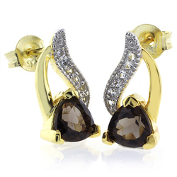 Authentic Smoked Topaz Earrings