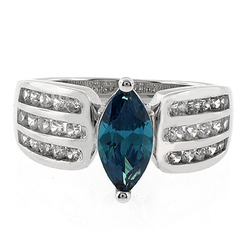 Alexandrite Silver 925 Ring Marquise Cut Stone