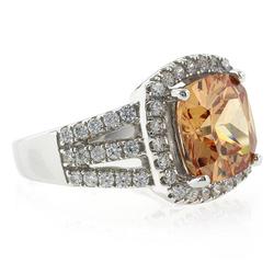 Cushion Cut Change Color Sapphire Ring