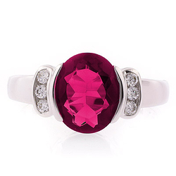 Ruby Oval Cut Stone Ring