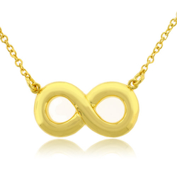 Gold Plated Silver .925 Infinity Pendant