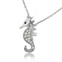 Sterling Silver .925 Seahorse Pendant