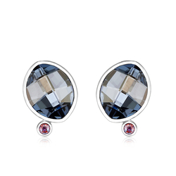 Beautiful Blue Swarovski Crystal Earrings