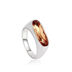Amber Color Swarovski Cristal Ring